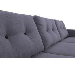 Canapé d'angle gauche scandinave tissu gris anthracite STOCKHOLM