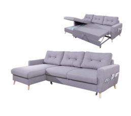 canap dangle gauche convertible tissu gris clair stockholm - Canape Lit But