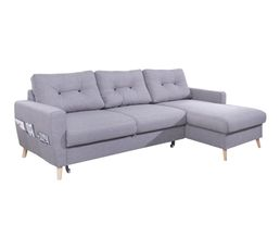 canap dangle droit convertible tissu gris clair stockholm - Canape Lit But