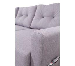 Canapé d'angle droit convertible tissu gris clair STOCKHOLM