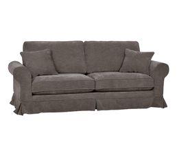 Canapé 3 places déhoussable ELOISE tissu noir