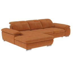 Canapé d'angle convertible méridienne gauche ANDY III tissu Apache fauve 11