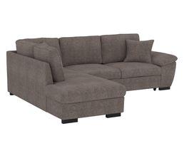 Canapé d'angle 4 places Tissu Contemporain Confort