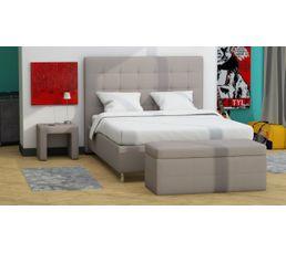 lit 140x190 cm japp pu taupe lits but. Black Bedroom Furniture Sets. Home Design Ideas