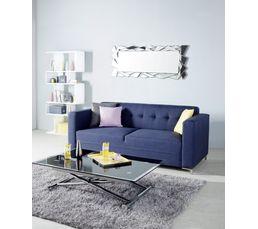 Canapé 3 places BUSTER Tissu Sawana Bleu