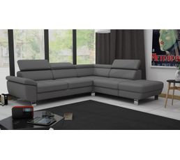 Canape D Angle Reversible William Ii Pu Gris Silex Canapes But