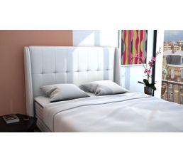 Tête de lit PU L.140 cm COCOONING BLANC