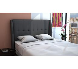 Tête de lit PU L.140 cm COCOONING GRIS
