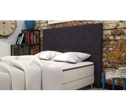 Tête de lit tissu L.165 cm CLISS ANTHRACITE