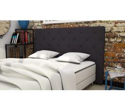 Tête de lit tissu L.185 cm CLISS ANTHRACITE