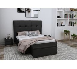 Tête de lit PU L.200 cm DREAM/HOME NOIR