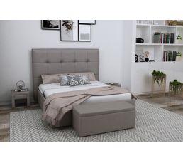 Tête de lit PU L.200 cm DREAM/HOME TAUPE