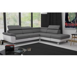 angle cv rversible william ii pu grisblanc - Canape Blanc Et Gris