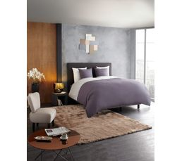 Tête de lit L.200 cm DREAM/HOME Anthracite - Tissu