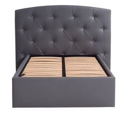 Tête de lit PU L. 200 cm DREAM REVE Gris Silex