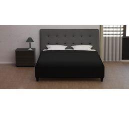 Lit 160x200 cm STANLEY Noir et gris