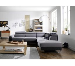canap d 39 angle cv r versible moran tissu anthracite gris canap s but. Black Bedroom Furniture Sets. Home Design Ideas