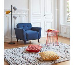 Fauteuil KINOA Tissu bleu