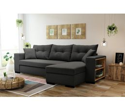 Canape D Angle Reversible Convertible Camelia Tissu Gris Anthracite