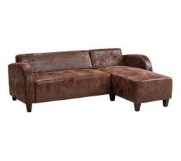 Canapé d'angle droit DANDY Marron