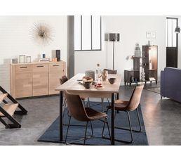 Table + allonge SHEFFIELD Chêne