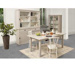 Table rectangle L. 160 Lass Gris/blanc