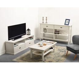 meuble tv lass grisblanc