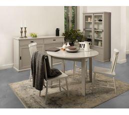 Table ronde Lass Gris/Blanc