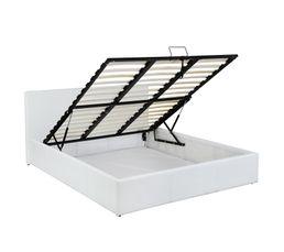 Lit coffre 160x200 cm ROMA 2 blanc