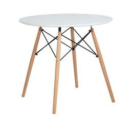 HELIA Table ronde Scandinave Blanc