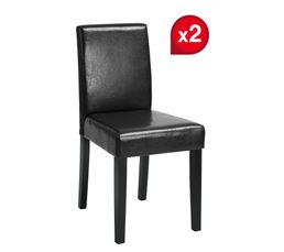 lot de 2 chaises johny noires