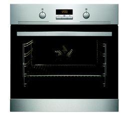 Programmateur electronique : Oui TYPO Four Encastrable Mode de cuisson : Chaleur tournante Volume (L) / Tournebroche : 72 L / Non Mode de nettoyage : Catalyse Eclairage : Halogène 40 W Porte : Porte ventilée Equipement : 1 lèchefrite, 2 grilles chromées D