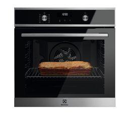 Programmateur electronique : oui TYPO Classe A+ Mode de cuisson : chaleur tournante pulsée Volume (L) / Tournebroche : 72 / oui Mode de nettoyage : pyrolyse Eclairage : 1x40 W Porte froide : oui Dimensions d'encastrement en cm : L.56 - H.60 - P.55 Coloris