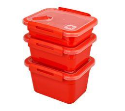 MEMORY Set de 3 boites Rouge