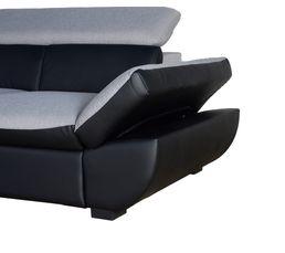 Angle convertible gauche CHANCE PU Noir/Tissu Gris