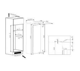 Réfrigérateur intégrable 1p WHIRLPOOL ARG8671