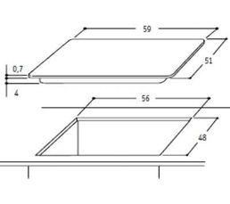 Table gaz WHIRLPOOL AKT7000WH
