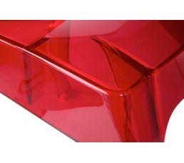 Chaise CRISTAL Rouge transparente