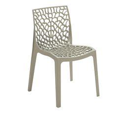 chaise abeille gris chaises but. Black Bedroom Furniture Sets. Home Design Ideas