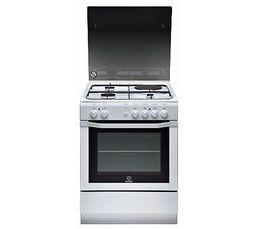 Cuisinière mixte INDESIT I 6 MSCAGWFR 3 foyers gaz + 1