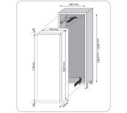 Régriférateur intégrable 1p CANDY CFBO 2150 N