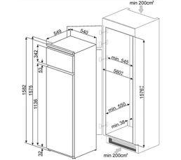 Réfrigérateur 2ptes intégrable SMEG D3150P