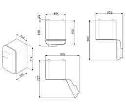 Réfrigérateur table top SMEG FAB5LCR