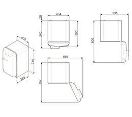 Réfrigérateur table top SMEG FAB5RRD