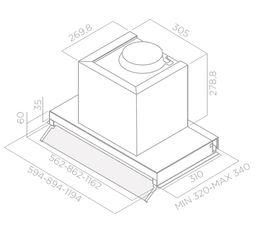 Groupe ELICA BOXIN LUX60 60cm inox