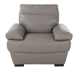Fauteuil LUCCA II Cuir cro te cuir Taupe Fauteuils BUT
