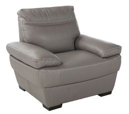 Fauteuil LUCCA II Cuir /croûte cuir Taupe