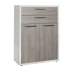 Option 2 portes/2 tiroirs MEZZO Imitation chêne / H.105 cm