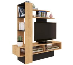 Meuble TV OSTRAL Imitation chêne et Noir