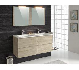 Meuble de salle de bain 120 cm FIDJI Chêne